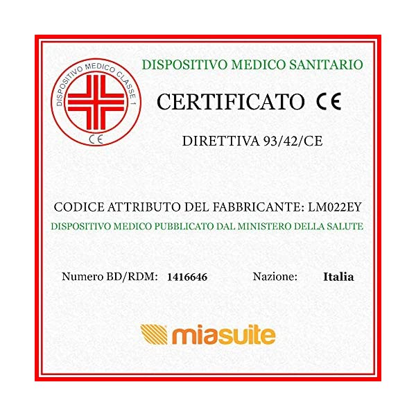 miasuite i sogni italiani Materasso in Memory Foam per Letto Singolo, Misura 80x190 Cm Altezza 22 Cm, Ortopedico ed Anti… 6 spesavip