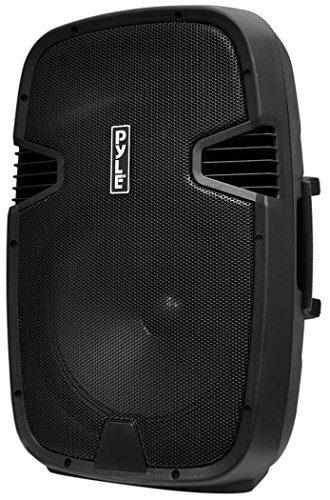Pyle Bluetooth PA Loudspeaker [Powered Speaker DJ System] Built-in Rechargeable Battery | MP3/USB/SD/FM Radio | 15'' Subwoofer | 1000 Watt ()