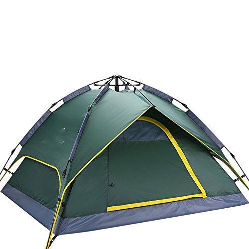 乳引退する海外QFFL zhangpeng テントフルオート2ベッドルームホール厚い防水シングルテントアウトドア3-4キャンプテント3色オプション トンネルテント ( 色 : パープル ぱ゜ぷる )
