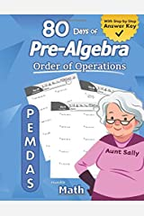 Pre-Algebra: Order of Operations (PEMDAS): Pre-Algebra Practice Problems with Step-by-Step Answers, Middle School Math Workbook - 9th grade - Ages ... – Easy Learning Worksheets - With Answer Key Paperback