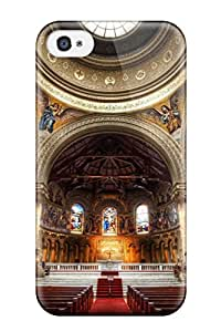 For Iphone 4/4s Tpu Phone Case Cover(the Glorious Church At Stanford)