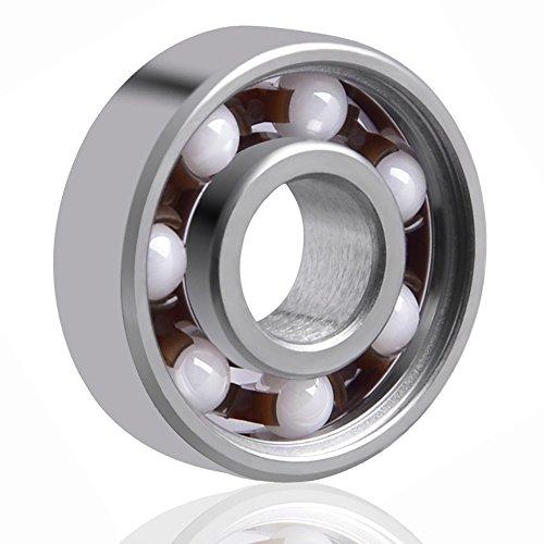EAONE 608 Hybrid Ceramic Ball Bearings for Fidget Spinner Toy (1 Pack, White Ball)