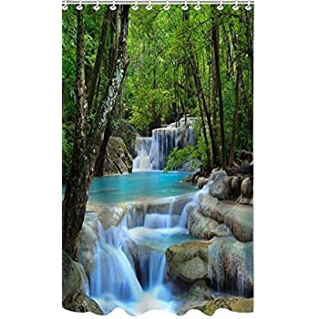 Delightful This Item Allure*love Waterfalls Nature Scenery Shower Curtain Bathroom  Waterproof Fabric Curtain By Allure*Love
