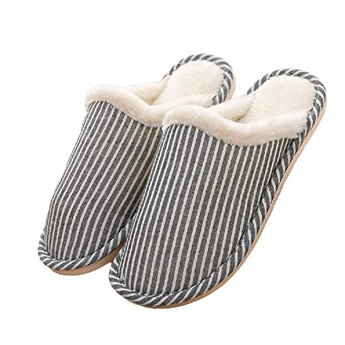 Striped Black Slippers For Men House Shoes Boy House Shoes House Slippers Mens Moccasin Slippers Boys Slippers House Shoes Boys Fluffy Slippers Ruby Slippers Cute Cotton House Shoes Size 43-44