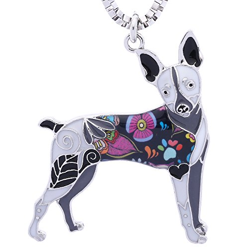 Luckeyui Toy Fox Terrier Gifts Necklace for Dog Lovers Unique Women Handmade Pets Jewelry