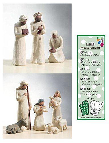Demdaco Nativity (Willow Tree Nativity Holy Family and 3 Wisemen Set of 9 Figures)