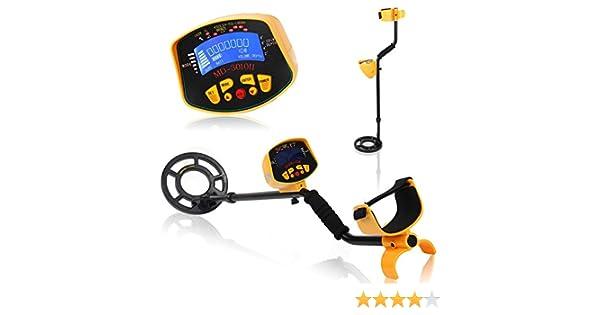 OneMoreT - Detector de metales con pantalla LCD de gran alcance (impermeable), diseño de espirales doradas: Amazon.es: Instrumentos musicales