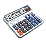 Aibecy Electric Calculator Desktop Counter Solar & Battery Power ABS 12-Digit LCD Display Source for Home Office School -OSALO OS-6815