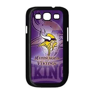 Purple NFL Minnesota Vikings Galaxy S3 Case Hard Plastic NFL Vikings SamSung Galaxy S3 I9300/I9308/I939 Cover HD Image Snap ON