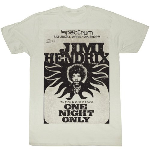 Jimi Hendrix - Mens Jimi At The Spectrum T-Shirt, Size: X-Large, Color: As - The At Shops Spectrum