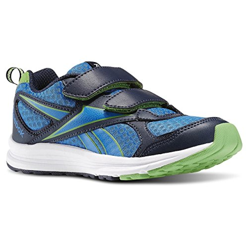 Reebok Almotio RS 2v, Zapatillas de Running Para Niños Azul / Verde (Collegiate Navy/Bright Green/Blue Sport/)