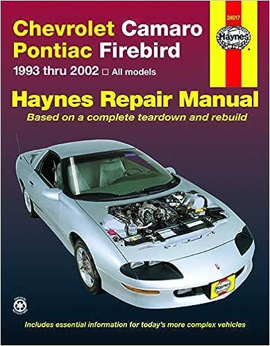 Chevrolet Camaro 2016 2017 2018 Factory Workshop Service Repair Manual