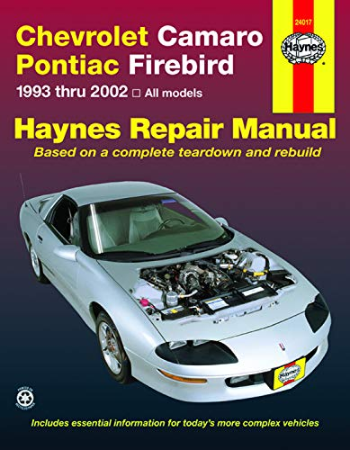 Chevrolet Camaro & Pontiac Firebird (93-02) Haynes Repair Manual (Haynes Repair Manuals)