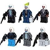6 Figure/pcs [MiniFigure Heroes Joker With Weapon MiniBlocks] Minifigures Educational Toys DIY Building Blocks Brinks Size 4.5-5cm.