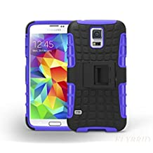 S5 Case,Galaxy S5 Case,Super Protective Samsung Galaxy S5 Case-SHOCK ABSORPTION/HIGH IMPACT RESISTANT Dual Layer Hard Plastic Heavy Duty Defender Case Cover for Samsung Galaxy S5 Case (Purple)