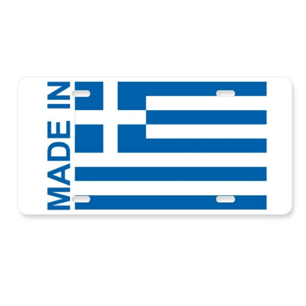 Made In Greece Country Love License Plate Car Decoration Stainless Steel Accessory