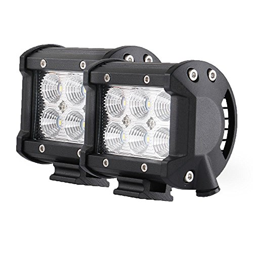 Star lightbar the best amazon price in savemoney led light bar star link 2pcs 18w 4 flood driving fog light off road lights aloadofball