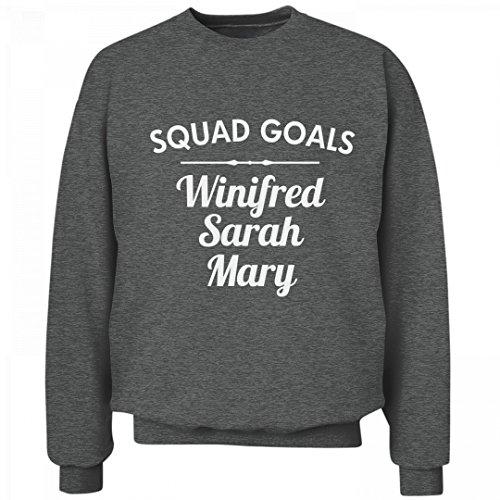 [Squad Goals Sanderson Sisters: Unisex Hanes Ultimate Crewneck Sweatshirt] (Hocus Pocus Costumes From The Movie)