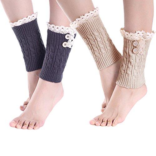 2-pack-of-womens-lace-stretch-boot-leg-cuffs-leg-warmers-socks-topper-cuff