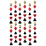 Girlande Casino, 6 Stück à 2 m