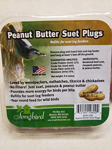 (Songbird Essentials SESC108 Suet Plugs Peanut Butter Bird)