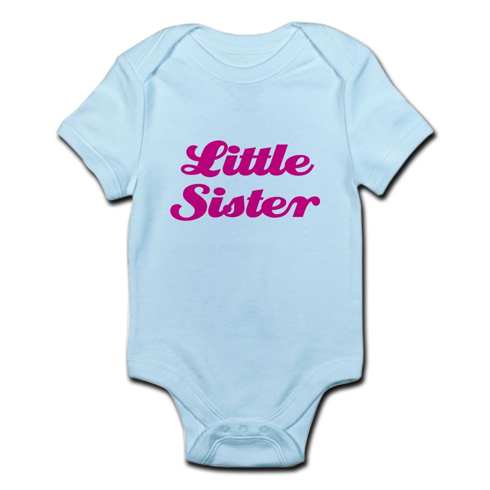 79dd63cdab917 Amazon.com: CafePress Little Sister (Pink On Pink) - Cute Infant Bodysuit  Baby Romper: Clothing