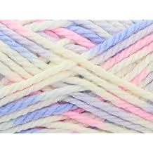 King Cole Comfort Multi Chunky Knitting Yarn Cream Supreme 495 - per 100g ball by King Cole