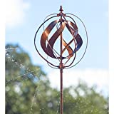 Evergreen 89-inch Copper Outdoor Safe Kinetic Hydro Spinner Lawn Watering Garden Stake