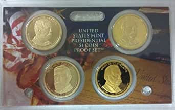 2012-S Proof Presidential Dollar 4-coin Set - NO BOX