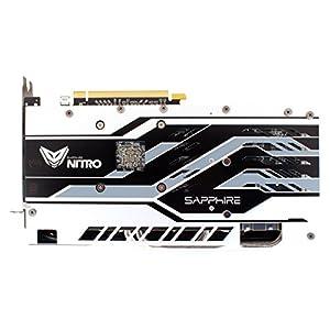 Sapphire 11265-07-20G Radeon Nitro+ Rx 580 4GB GDDR5 Dual HDMI/ DVI-D/ Dual DP with Backplate (UEFI) PCI-E Graphics Card
