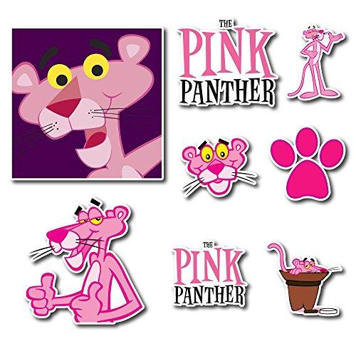 The Pink Panther Set Sticker Pack Cartoon Decal for Car Window, Bumper, Laptop, Skateboard, Wall, ETC. Set-074