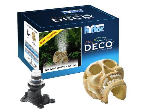 Hydor Deco Ornament Kit, Human Skull, White LED ()