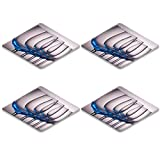 Liili Square Coasters IMAGE ID 14505798 Wine glasses in a row with a blue tint