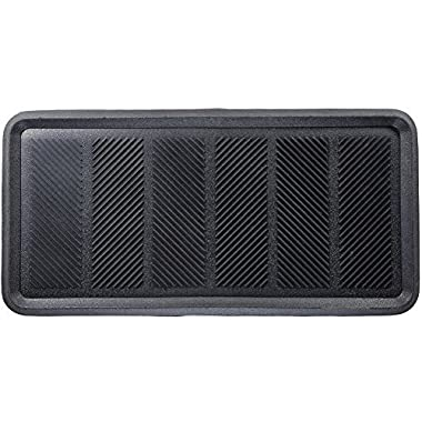 MILLIARD Large Rubber Boot Tray or Mudroom Doormat, 32x16 ; Rubber is Durable, Flexible for Easy Cleaning and Gives a Strong Grip to Stay in Place