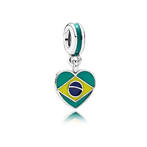 381d0769b6c6 Pandora - Charm Pandora colgante bandera corazón Brasil - 791911enmx ...