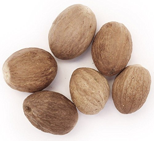 Kerala Naturals Organic Whole Nutmeg Select Grade 100Gm