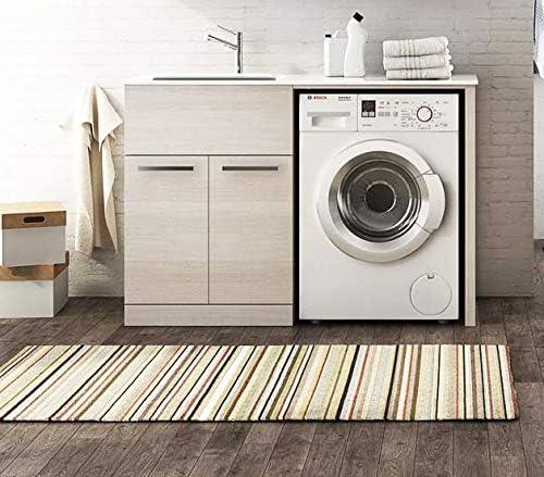 Mueble de lavandería para cubrir lavadora con lavabo integrado