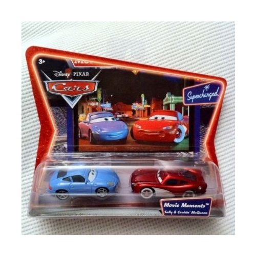 - Supercharged Edition Movie Moments SALLY AND CRUISIN' LIGHTNING MCQUEEN Disney / Pixar CARS 1:55 Scale Die-Cast Vehicle 2 Pack