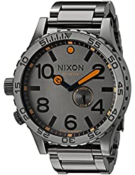 Nixon Mens A0571235 51-30 Tide Analog Display Swi SS Quartz Grey Watch