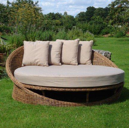 Lounge sofa rund  Amazon.de: Ingarden Daybed. Gartenmöbel, Aus Rattan, Rund ...