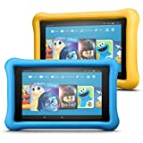 Fire 7 Kids Edition Tablet 2-Pack, 16GB (Blue/Yellow) Kid-Proof Case