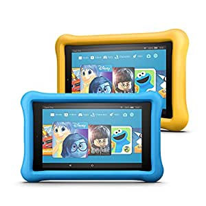 All-New Fire 7 Kids Edition Tablet Variety Pack, 16GB (Blue/Yellow) Kid-Proof Case