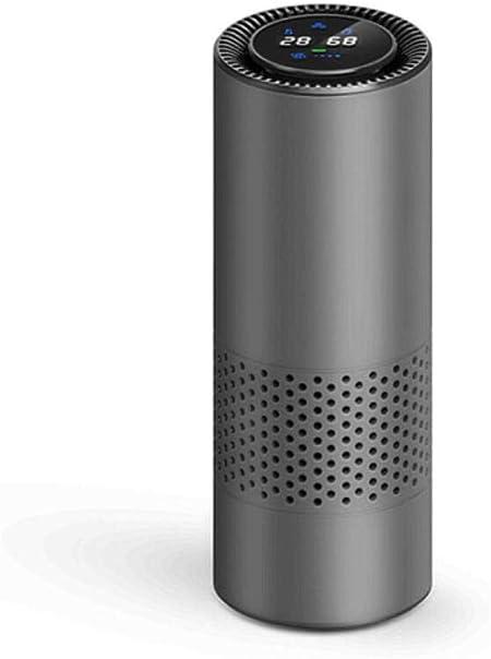 5V USB Car Purificador De Aire Filtro HEPA Limpiador Portátil Formaldehído Cigarrillo Humo Olor Bacterias Dispositivo Purificador Sensación De Gesto,Gray: Amazon.es: Hogar