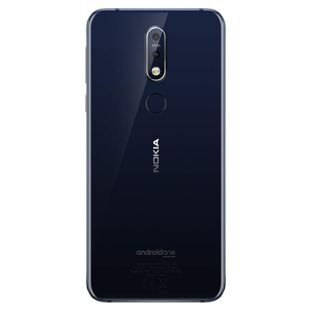 Nokia 7.1 - Android 9.0 Pie - 64 GB - 12+5 MP Dual Camera - Dual SIM Unlocked Smartphone (at&T/T-Mobile/MetroPCS/Cricket/H2O) - 5.84'' FHD+ HDR Screen - Blue - U.S. Warranty by Nokia (Image #2)