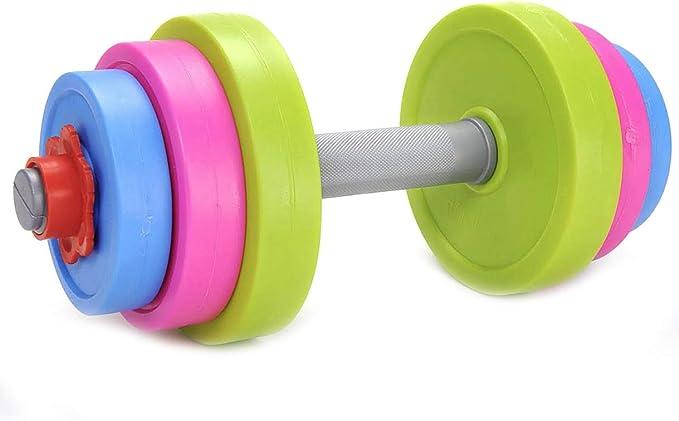 LONGYEE 2PCs Set Plastic Soundless Dumbbell Bone Shape Children Exercise Fitness Sport Toy
