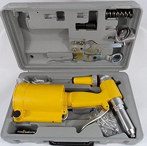 Eight24hours Pneumatic Air Hydraulic Pop Rivet Gun Riveter Riveting Tool w/Case - Air Riveter Gun