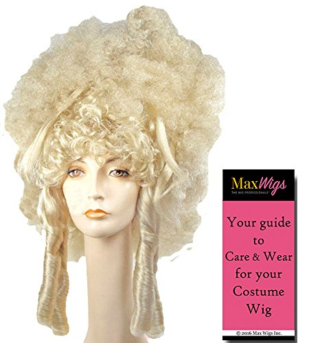 Fantasy Madame Color BLONDE - Lacey Wigs Dominatrix 18th Century Marquise Sexy French Revolution Les Miserables Bundle with MaxWigs Costume Wig Care Guide -