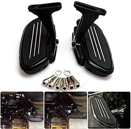 Passenger Floorboards with Mount Kit Compatible with Harley Touring Road King Tour Street Electra Glide
