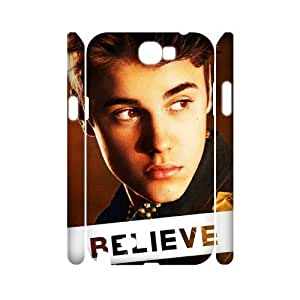 Justin Bieber Personalized 3D Cover Case for Samsung Galaxy Note 2 N7100,customized phone case ygtg-700863 hjbrhga1544