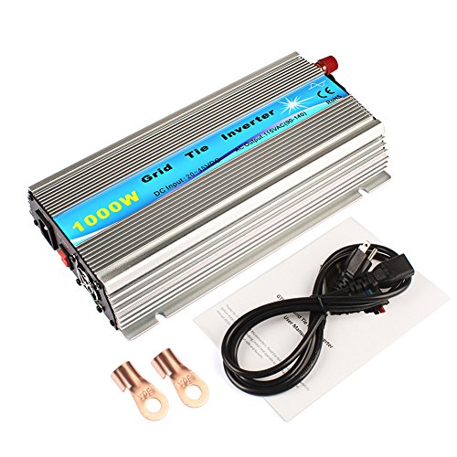 1000W Mirco Grid Tie Inverter For Solar Panel Pure Sine Wave DC20-45V to AC90-140V Solar Power Inverter (GTI-1000W-36V-110V) by ExGizmo
